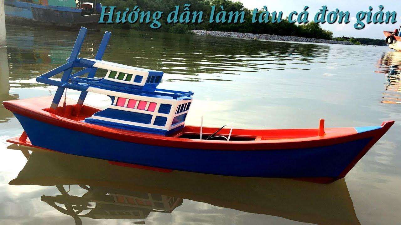 Chế mô hình thuyền điều khiển động cơ Motor 775 đơn giản