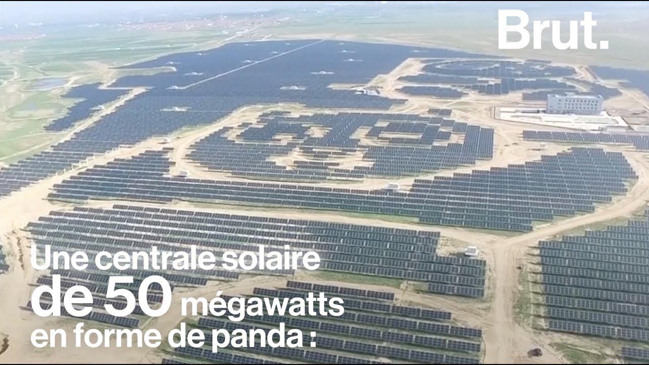 chine une centrale solaire en forme de panda g ant youtube. Black Bedroom Furniture Sets. Home Design Ideas