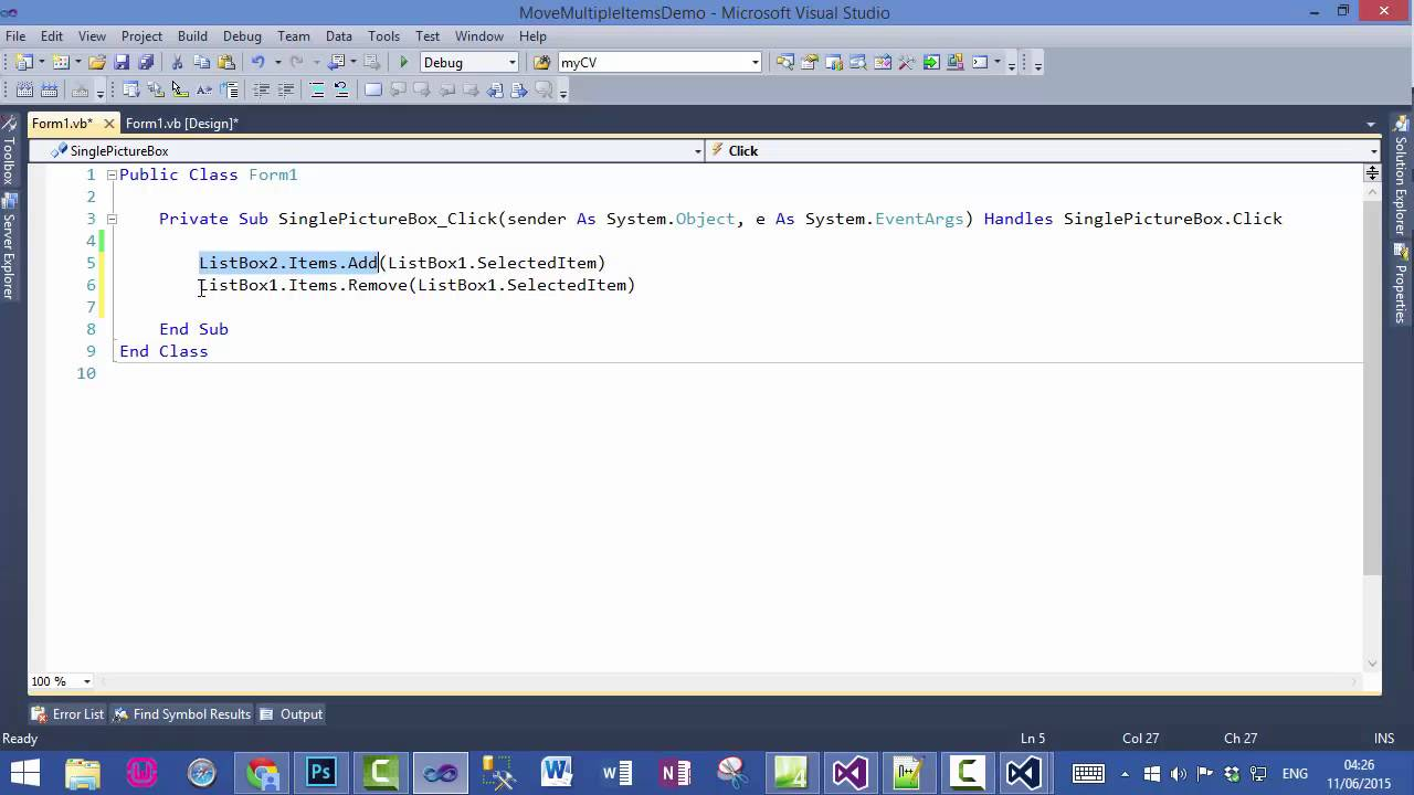 How to clear listbox vba