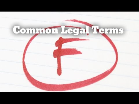 """COMMON LEGAL TERMS: """"F"""" - Legal Glossary - iRepMyself.com"""
