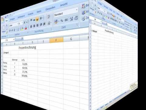 Excel 2007 Prozentrechnung Einführung Youtube