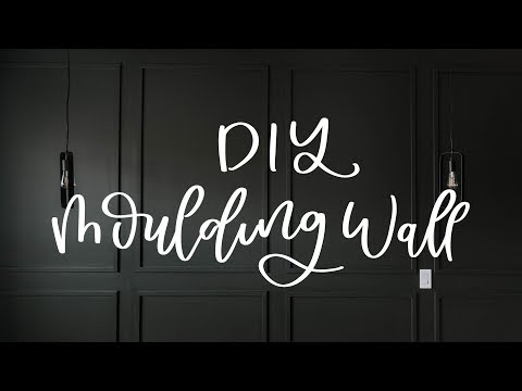 A Modern Diy Moulding Wall / How To Install Molding Feature Wall