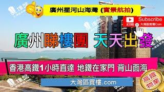 星河山海灣別墅_廣州|香港高鐵1小時直達|背山面海|鐵路沿線優質別墅 (實景航拍)