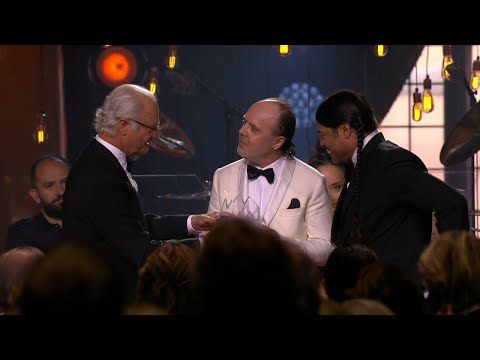 The King of Sweden awards Metallica the Polar Music Prize in Stockholm, an - Polar music prize (TV4)