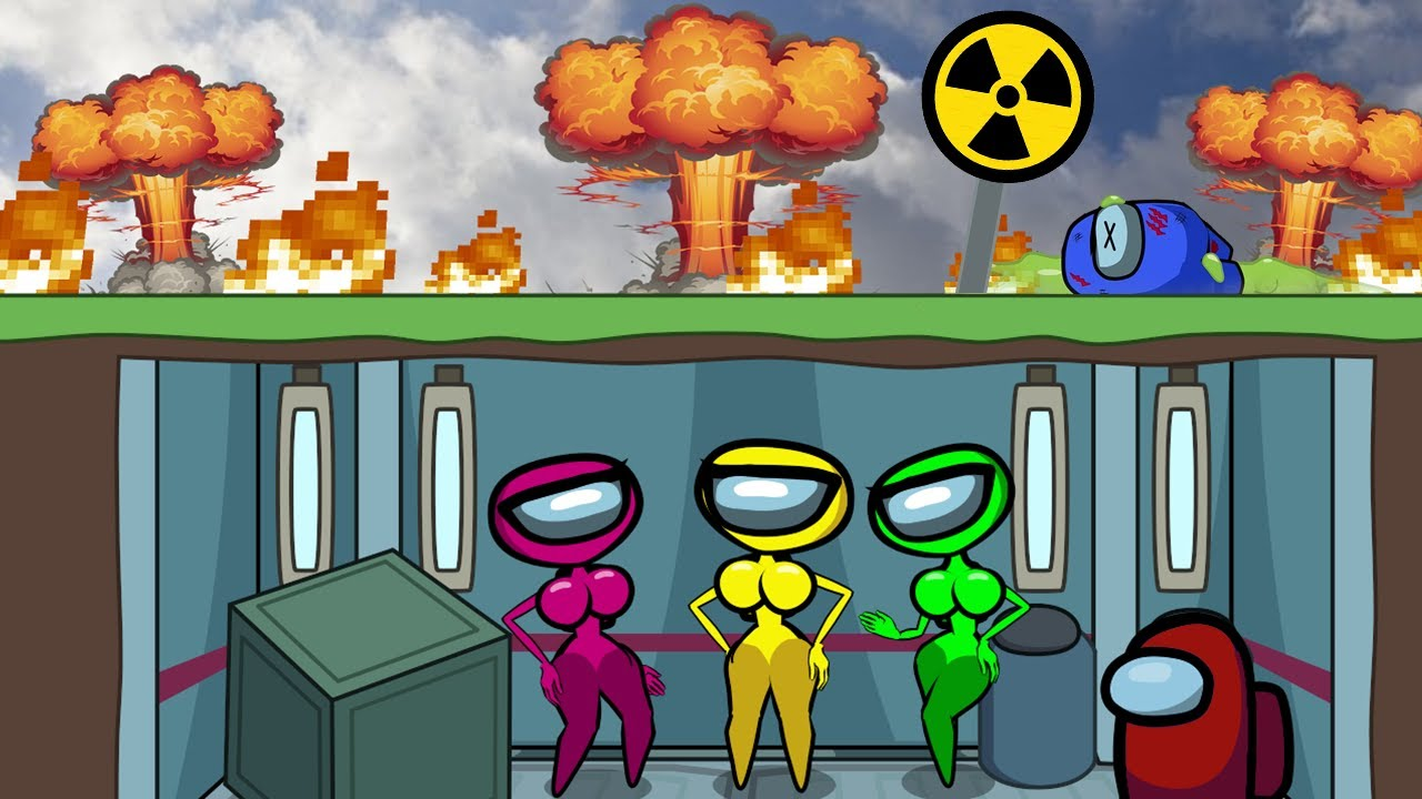 Among Us vs Atomic Explosion - Cartoon Animation