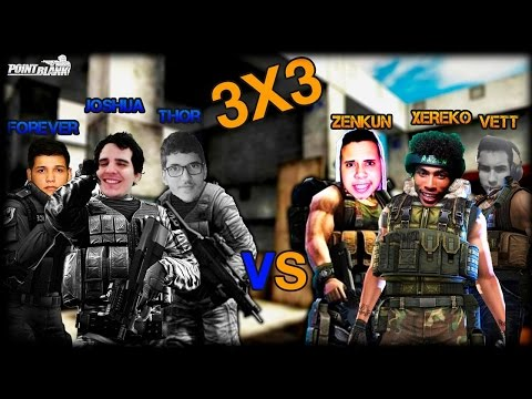 Point Blank ► 3x3 DAS LENDAS DO YOUTUBE! [XERECO,VETT,JOSHUA,ZENKUN,THOR]