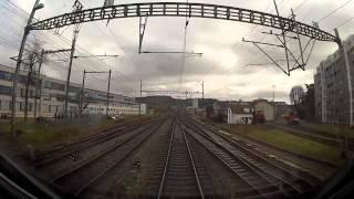 На поезде Цюрих - Женева (Аэропорт) часть 1 Медленное телевидение