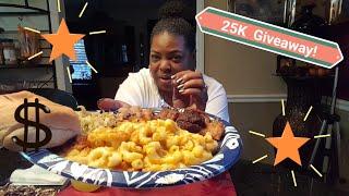 Sunday Dinner/Cranberry Glazed Pork Lion, Blackeye Peas & Shrimp Mac-n-Cheese+ 25K Giveaway