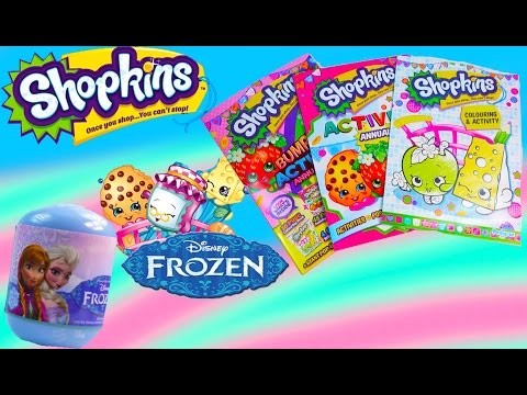 Frozen Disney Mystery Surprise Blind Bag Shopkins Activity Annual Bumper Pack Sticker Unboxing