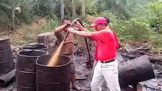 Minyak Mentah Hasil Pengeboran ilegal Kalimantan indonesia Yang Akhirnya Di Ekspor Ke Luar Daerah