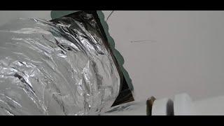 Paroizolacja - zakończenie w przejsciu instalacji wentylacji mechanicznej.