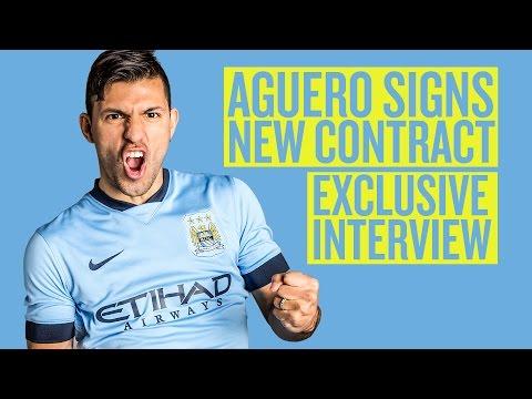 AGUERO SIGNS ON | New Man City contract for Kun Aguero