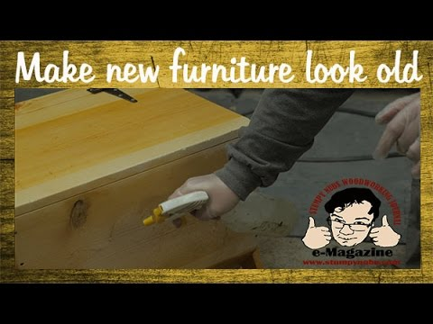FINISHING TECHNIQUE: Aging/Distressing Furniture  Make New Wood Look Old!    YouTube