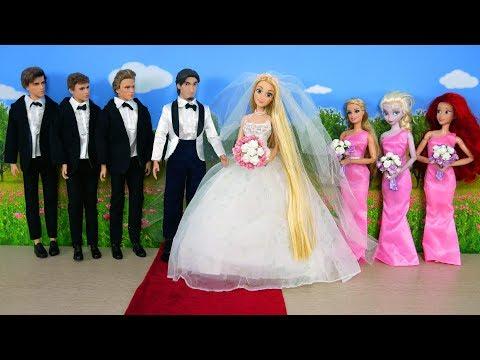 Tangled Princess Rapunzel Wedding Ceremony - Cinderella Castle Pernikahan Rapunzel Casamento thumbnail