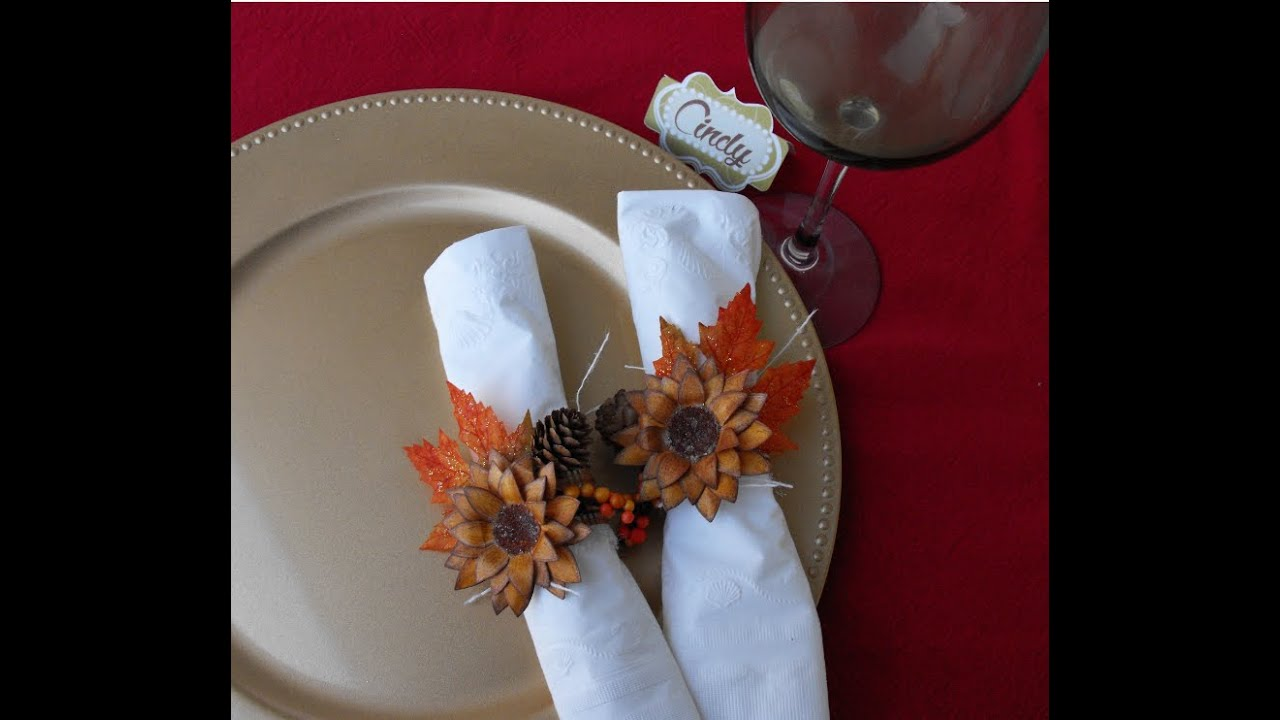 thanksgiving napkin rings youtube. Black Bedroom Furniture Sets. Home Design Ideas