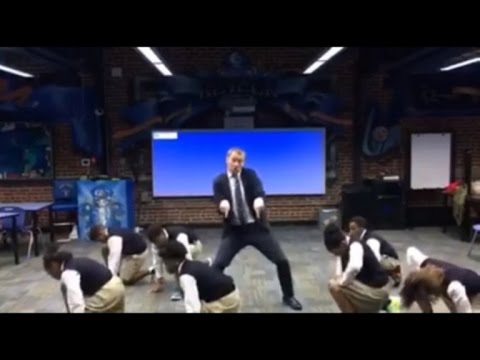 Teacher Breaks Out Impressive Hip Hop Moves with Students