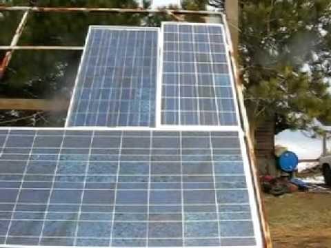 Home Solar Panel array - real life example