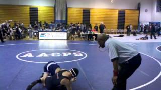 Jarrett Arnold wrestling @ 106 vs Kent Island