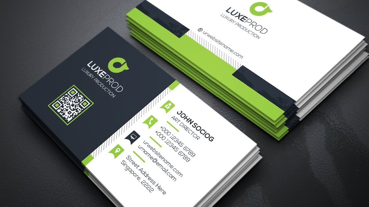 Creating a Modern Business Card Design 03 Coreldraw