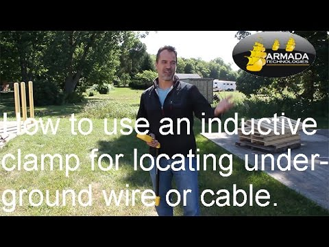 How to use an inductive clamp for locating underground wire or cable.