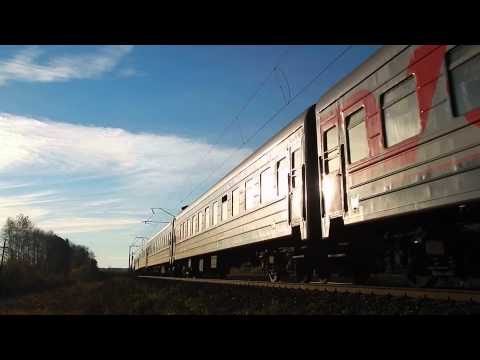 ЧС4Т-279 с пассажирским поездом на перегоне Ацвеж - Котельнич-I