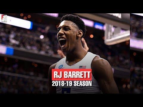 RJ Barrett Duke Freshmen Season Highlights Montage 2018-19 - 22.6 PPG, 7.6 RPG, 4.3 APG