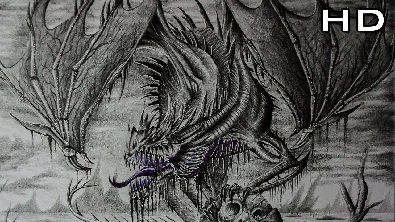Como Dibujar Un Dragon Realista A Lapiz Paso A Paso Tutorial De