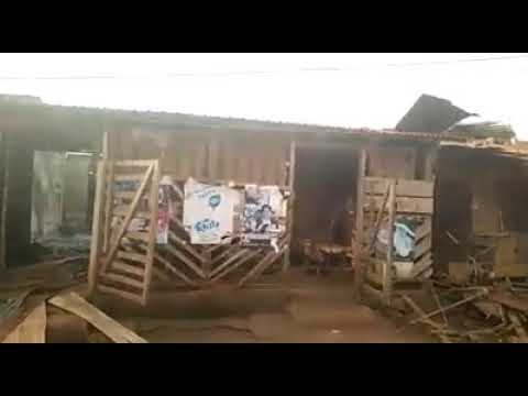 La République du Cameroun Military completely destroyed Kwakwa market and houses. Village desserted