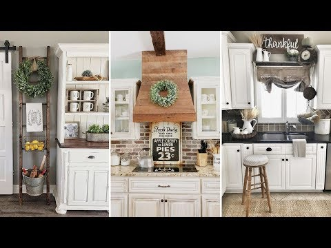 ❤DIY Rustic Shab chic style Kitchen decor Ideas❤  Farmhouse decor Ideas Flamingo Mango