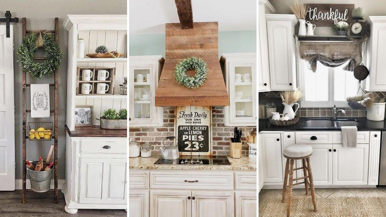 DIY Rustic Shabby chic style Kitchen decor Ideas ... on Farmhouse Rustic Kitchen  id=99707