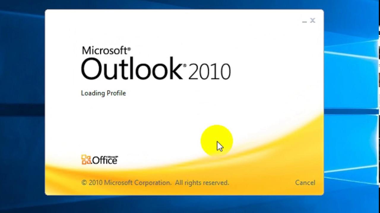 Microsoft outlook Configure  window 10