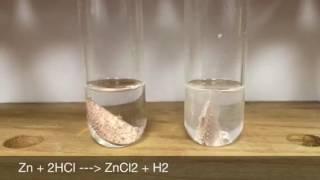 concentration reaction rates 1m vs 6m hcl