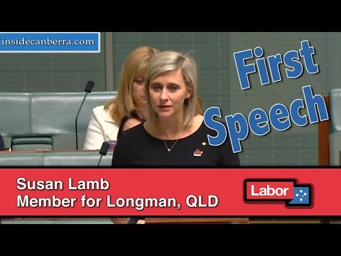 First Speech in the 45th Parliament by Susan Lamb Member for Longman