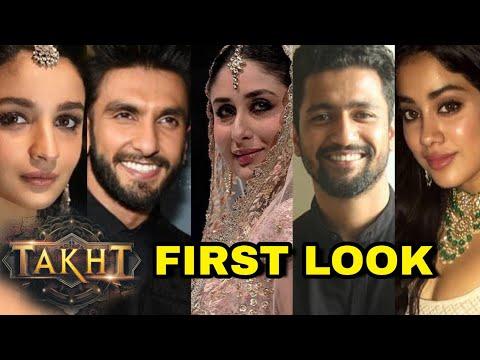Takht First Look Out : Karan Johar Introduces Ranveer, Kareena, Alia, Vicky Kaushal, Jhanvi, Anil Mp3