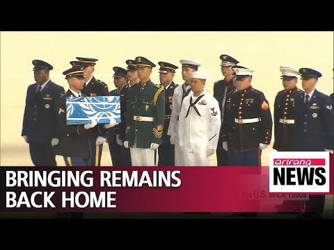 55 cases containing remains of American soldiers arrive in S. Korea