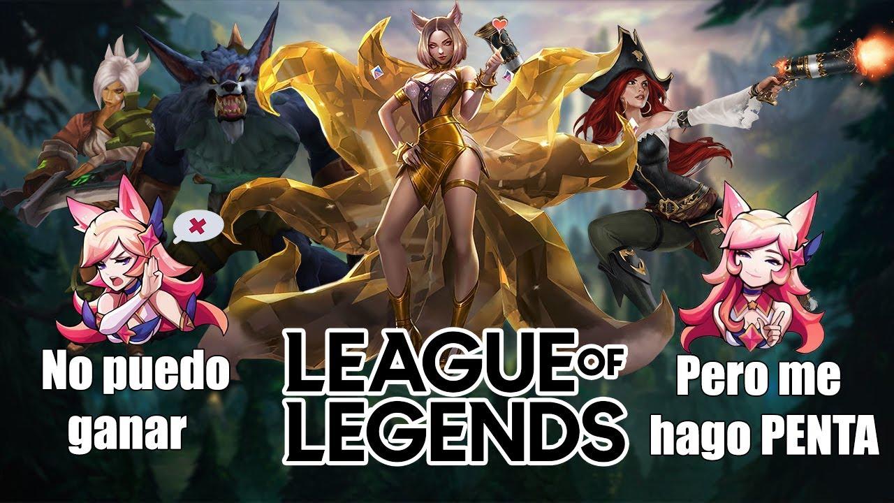 """""""Rompiendo la maldición del 0% de Win Rate con Pentakill😜"""" League of Legends"""