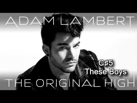 Adam Lambert's vocal range on The Original High (B2-F♯5) 2½ octaves