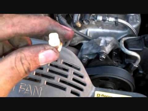 replace temperature sensor on jeep grand cherokee - youtube