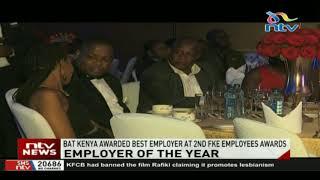 BAT Kenya awarded best employer at 2nd FKE employees awards