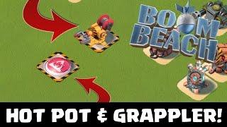 NEW PROTOTYPE DEFENSES!   Boom Beach   GRAPPLER AND HOT POT