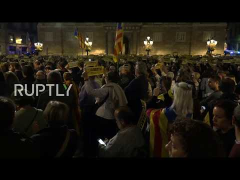 LIVE: Pro-independence protesters gather in Barcelona