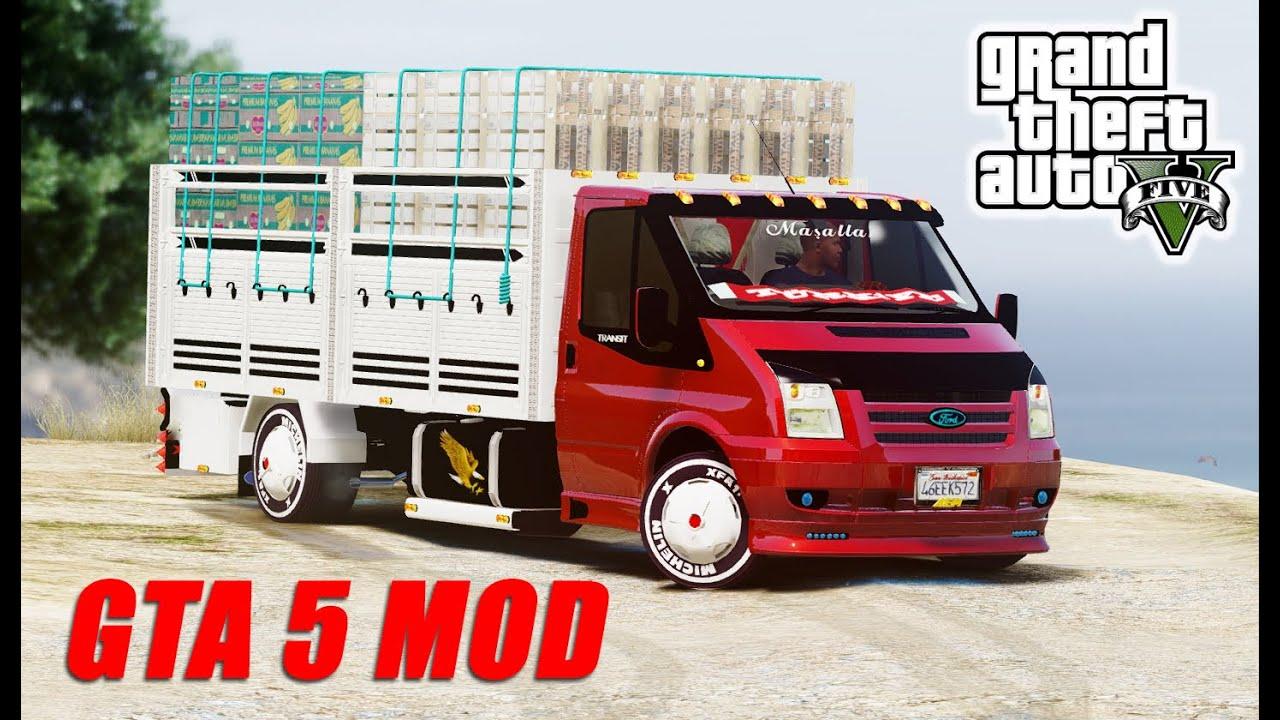 Ford Transit Pikap >> Gta 5 FORD TRANSİT AÇIK KASA SEBZECİ MODU!!! Ekip - YouTube