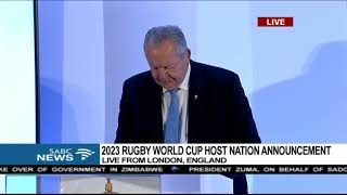 France announced as 2023 Rugby World Cup host