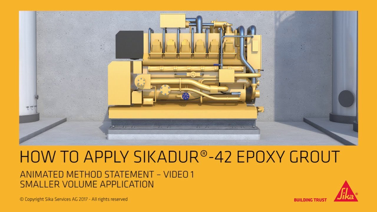How to apply Sikadur® 42 Epoxy Grout, Smaller Volume Application