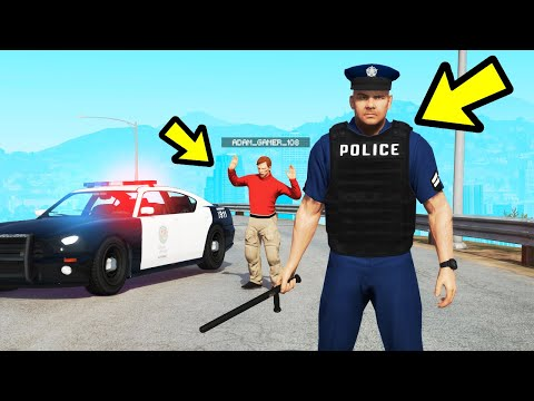 Playing as a POLICE OFFICER in GTA Online! (GTA 5)