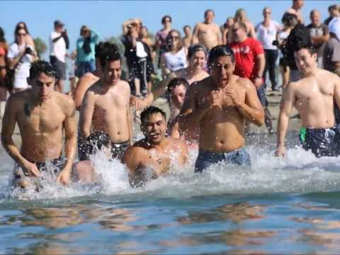 250+ brave 58-degree water @ Long Beach Polar Splash for charity