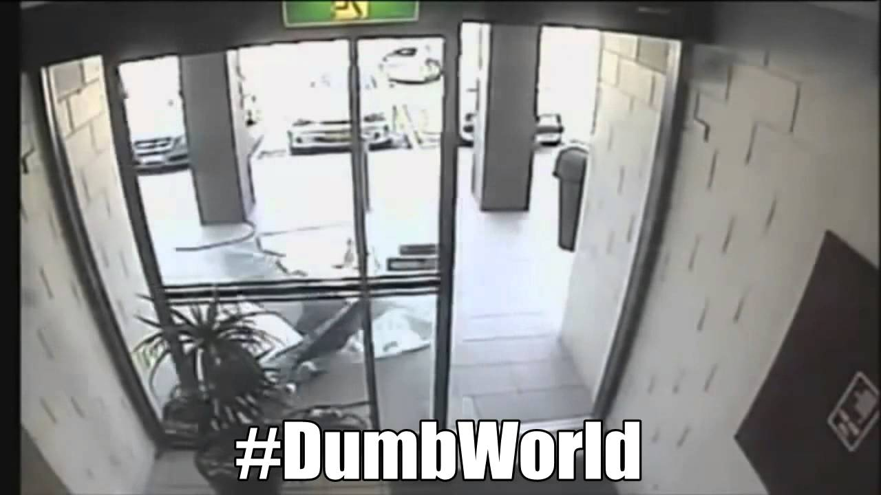Purse Thief Runs Into Window Really Youtube