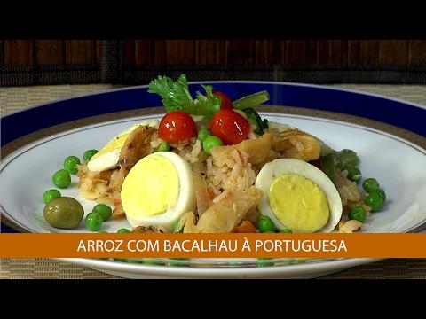 ARROZ COM BACALHAU À PORTUGUESA