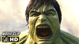 THE INCREDIBLE HULK (2008) University Battle [HD] Hulk Smash