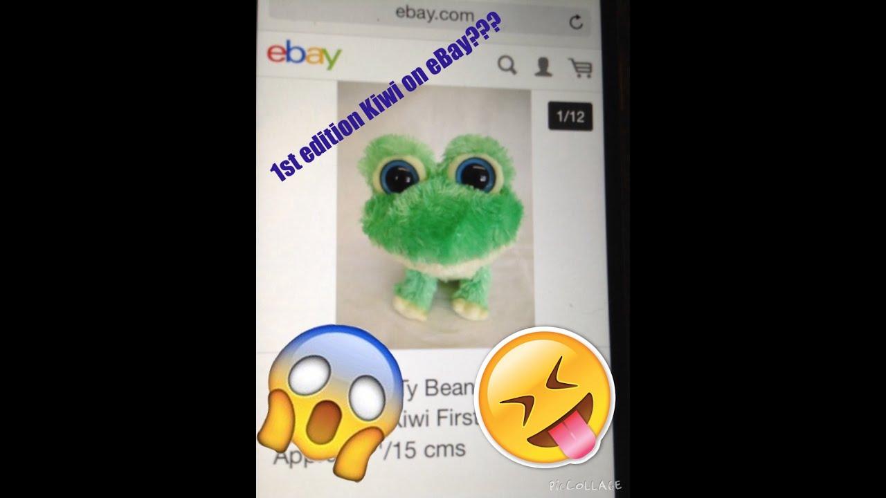 d9a058de283 Beanie boo First edition Kiwi(UK) on eBay    - YouTube